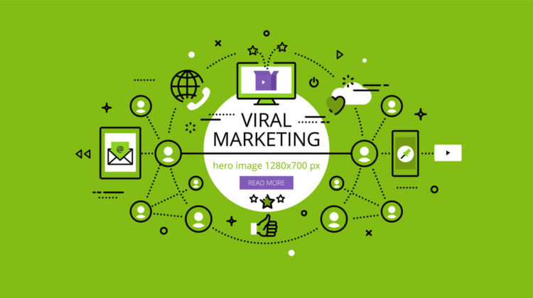 Viral Marketing: an image of a network of marketing channels