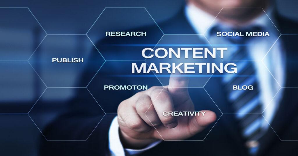 content marketing: Research, Social Meida, Publish, Promotion, creativity, Blogs